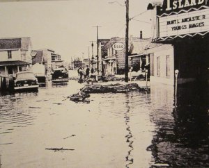 Island Theater in Flood, Ash Wednesday Storm (Chincoteague Museum)