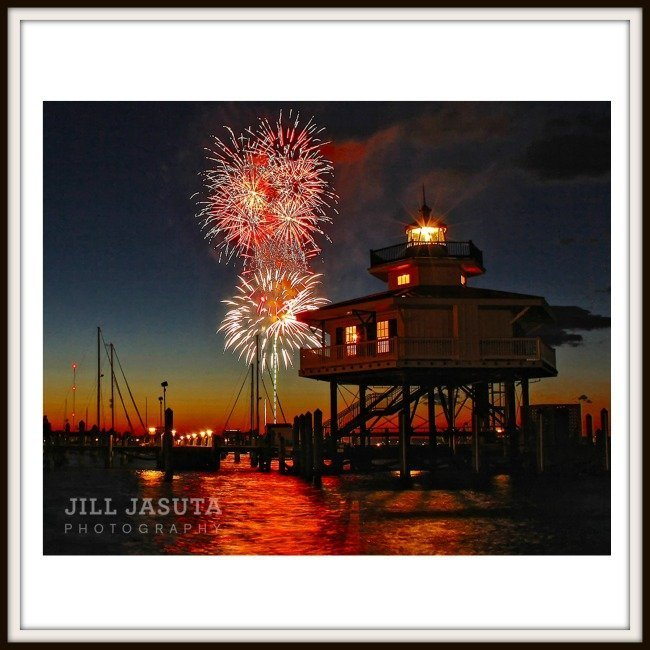 Fireworks at the Lighthouse Photo Print