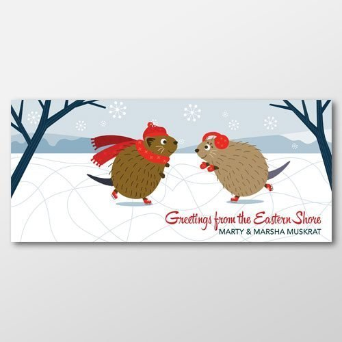 Muskrats in Winter Greeting Card from Secrets of the Eastern Shore