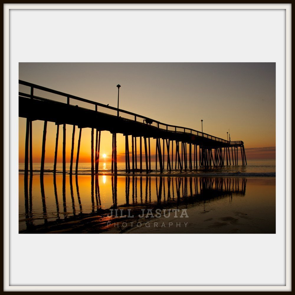 Sunrise at the Ocean City Fishing Pier on Maryland's Eastern Shore