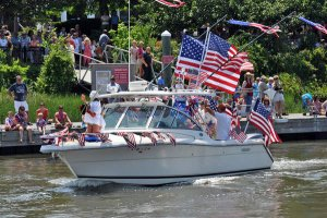 4th of July Boat Parade in Lewes