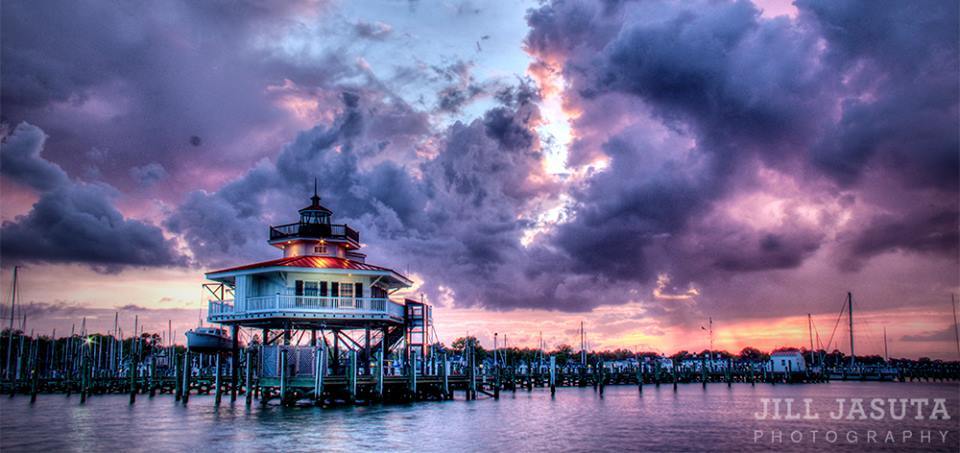 Choptank River Lighthouse with Storm Clouds