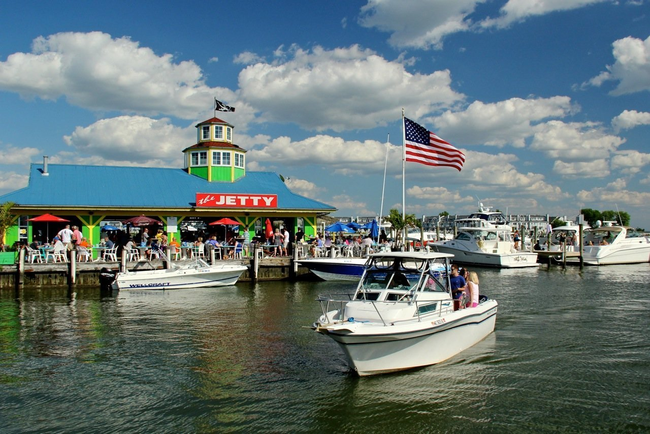 The Jetty Dock Bar In Kent Narrows