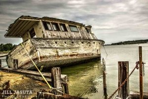 Old Boat on Hooper's Island, Eastern Shore of Maryland