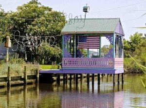 Patriotic Dock House in Chincoteague on the Eastern Shore of Virginia