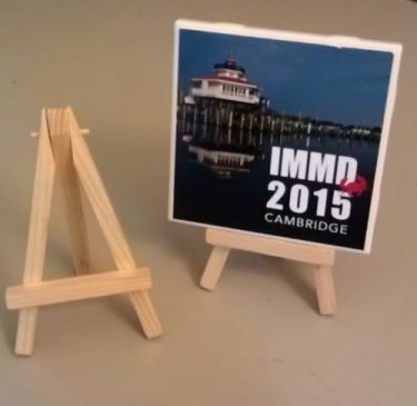 Wooden Easel for Secrets of the Eastern Shore Photo Tiles