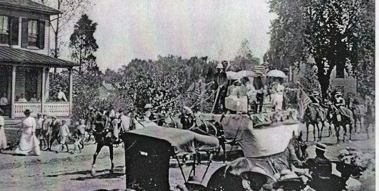 1914 Nace's Day Parade in Trappe on Maryland's Eastern Shore