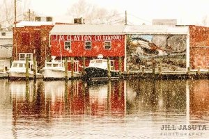 J.M. Clayton's in the Snow, Eastern Shore of Maryland