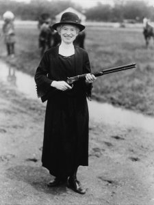 Annie Oakley, shown here in 1922, lived for a time in Cambridge, on the Eastern Shore of Maryland
