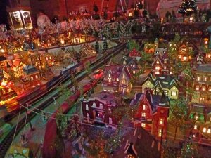 Holiday Train Display in Cambridge on the Eastern Shore of Maryland