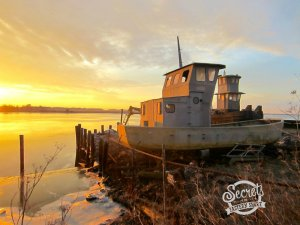 Wintry Mix: Golden Sunrise on the Nanticoke
