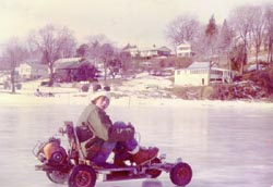 Go carting on the Chesapeake Bay during the Eastern Shore deep freeze of 1977/78 in Maryland