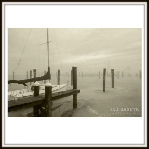 Sailboat in Fog Photo Print