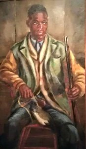 Eastern Shore Painting: Bernard Moaney as Duck Hunter by Ruth Starr Rose