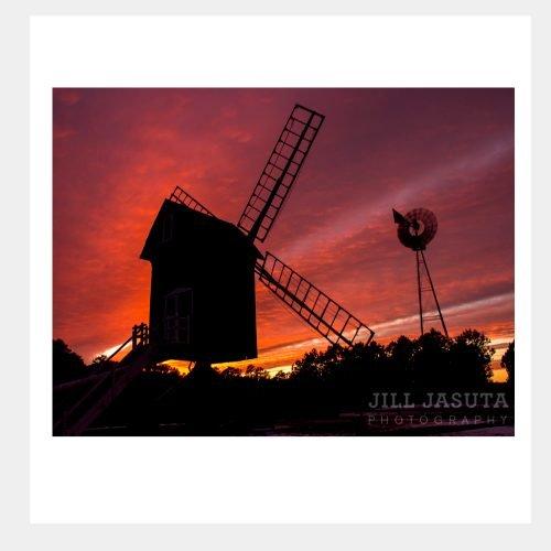 Spocott Windmill at Sunset Greeting Card
