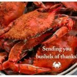 Steamed Crabs Greeting Card