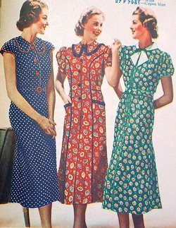 Feed Sack Fashions from the 1930s