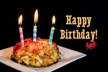Crab Cake Birthday Card