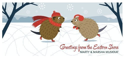 Muskrat Lovebirds Greeting Card