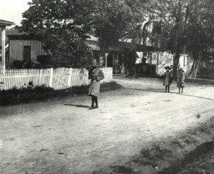 Children Walking to school in Royal Oak, Maryland