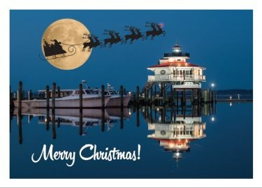 Christmas at the Choptank River Lighthouse in Cambridge, Maryland
