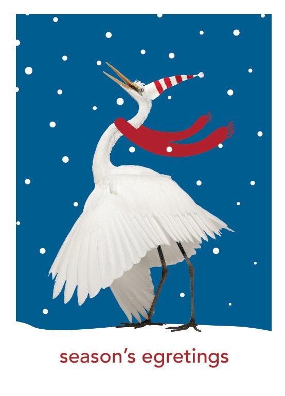 season's egretings Christmas card by Secrets of the Eastern Shore