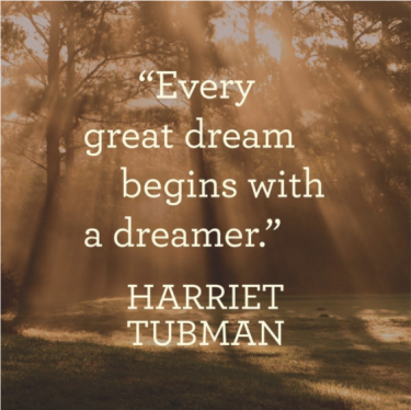 Harriet Tubman Inspirational Canvas: The Dreamer