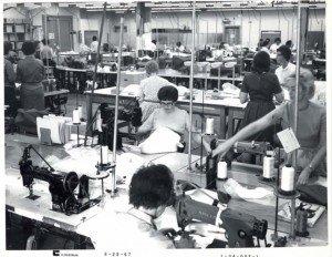 Seamstresses at work at ILC Dover