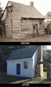 Webb Cabin Before and After