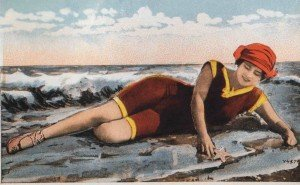 Bathing Beauty Postcard from Tolchester Beach, Maryland