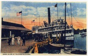 The Emma Giles steamship at Tolchester Beach, Maryland
