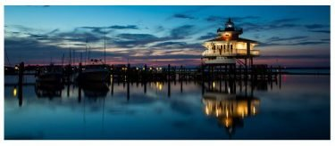 Chesapeake Lighthouse at Dusk Greeting Card