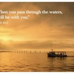 Pass Through the Waters Greeting Card