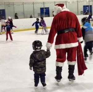 Skating with Santa Event on the Eastern Shore of Maryland