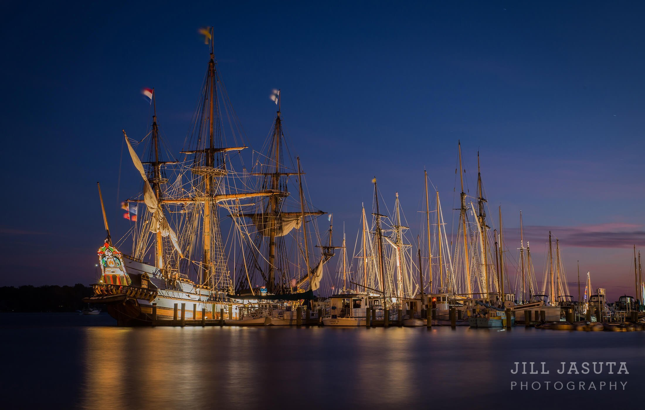 Twilight at Downrigging in Chestertown, Maryland