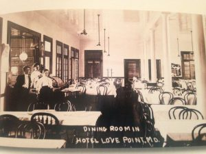 The Dining Room at Love Point Hotel in Stevensville on Kent Island, Maryland