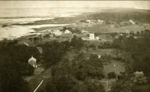 View of Broadwater, Virginia from top of Hog Island Lighthouse