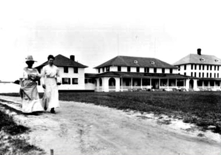 Women Walking at the Love Point Hotel in Stevensville on Kent Island, Maryland