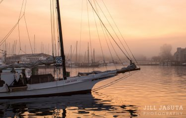 Skipjack Lady Katie in the Morning Fog