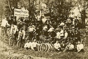 The Cycling Club in Cambridge, Maryland in the 1890s