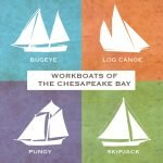 Workboats of the Chesapeake Canvas Block