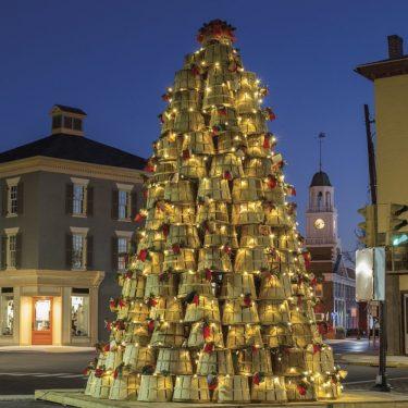 Crab Baset Christmas Tree Canvas Block