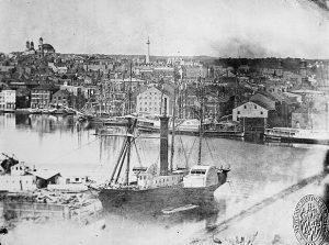 The Inner Harbor in Baltimore 1849