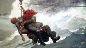 Breeches Buoy Winslow Homer The Lifeline copy