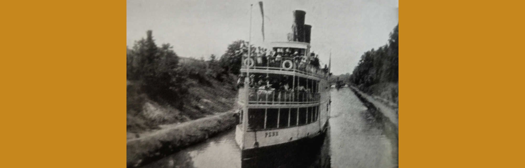 """QUOTE OF THE DAY: """"The stately looking steamboat … cautiously, almost stealthily edged her way into the locks"""" of the C&D Canal."""