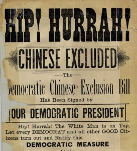 Chinese Exclusion Campaign Sign