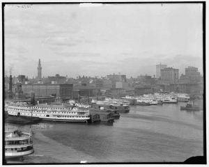 Steamboats in Baltimore Harbor