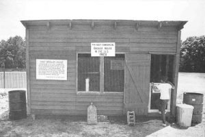Cecile Steele's First Chicken House, on display in1973