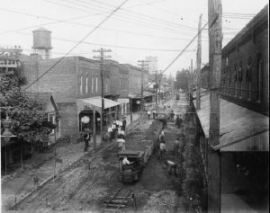 Market Street in Laurel Being Paved 1917 to 1918 Credit Delaware Archives (1)