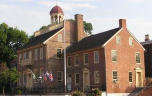 The New Castle Courthouse Museum in New Castle, Delaware